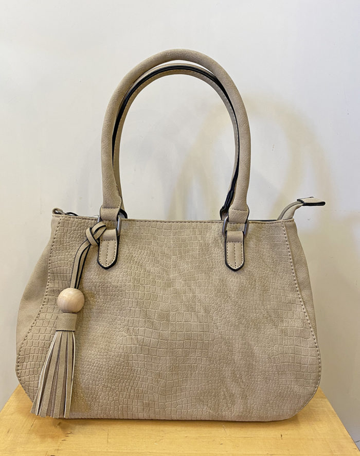 sandfärgad väska
